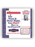 IF YOU WANT IT DONE RIGHT, AUDIO BOOK CD