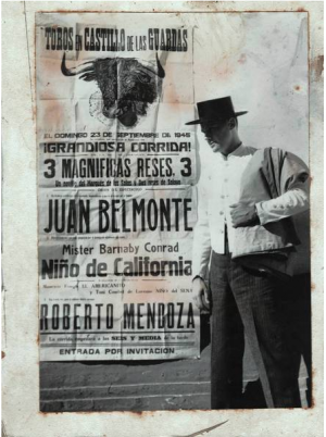 Barnaby Conrad Jr. in Spain in 1945. The bullfighter, bon vivant, portrait artist, saloonkeeper to the stars and author of 36 books died last week in Carpinteria at age 90.